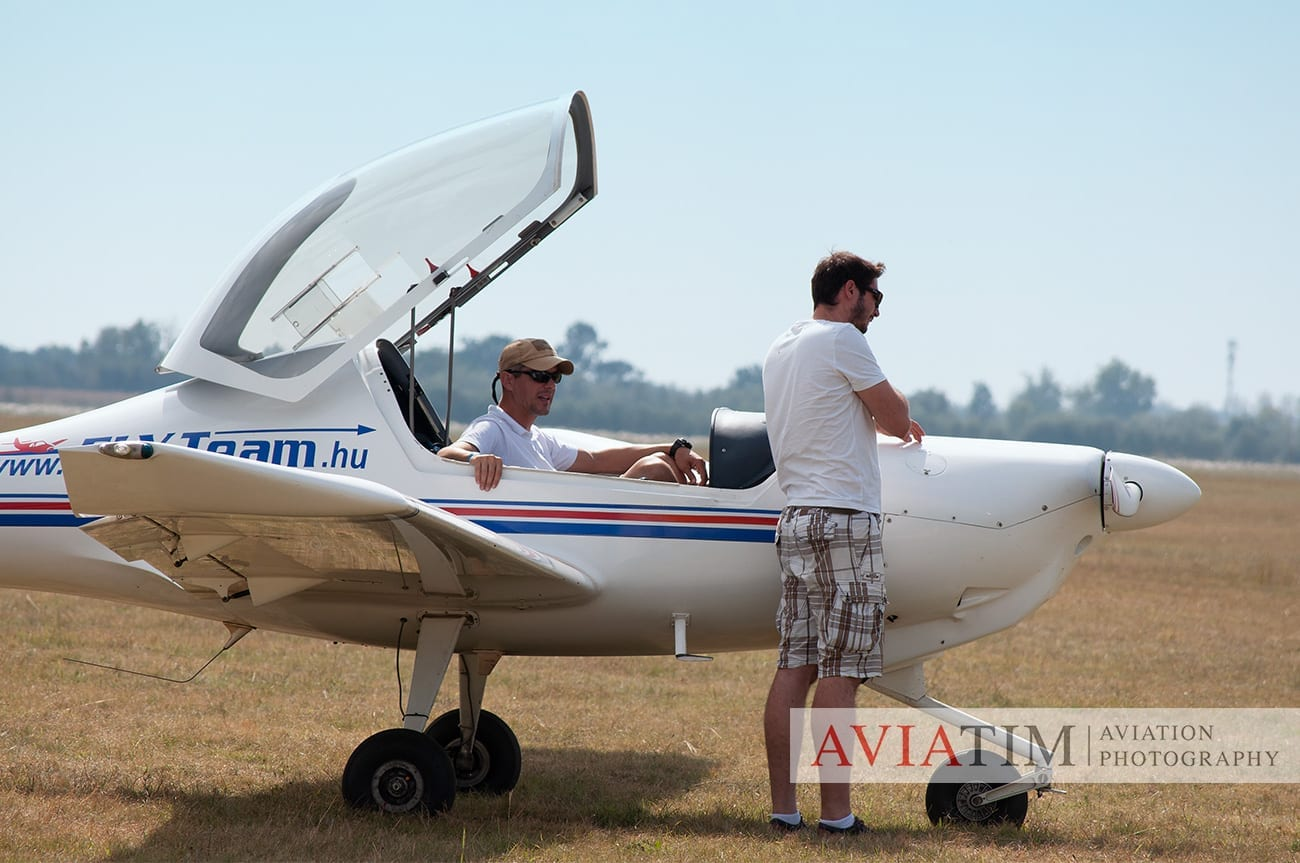 4.Szeged Air Show. Ultralight Plane. Airshows