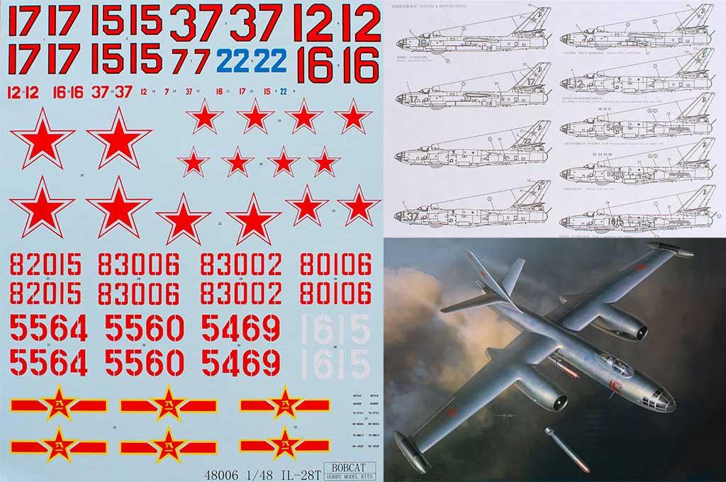Ilyushin Il-29 BOBCAT 1:48 scale model decal sheet
